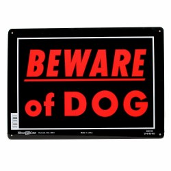 Beware of Dog Sign 10x14 Alum