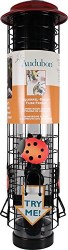 Squirrel Resistant Ladybug Design Tube Feeder