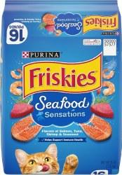 Friskies Seafood Sensations Adult Dry Cat Food 16lb