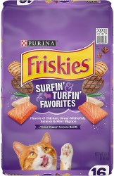 Friskies Surfin' and Turfin' Favorites Adult Dry Cat Food 16lb