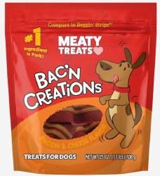 Meaty Treats Bakn Creations Bacon & Cheese Flavor Dog Treats 25oz