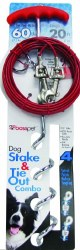 Prestige 20ft Large Dog Spiral Stake And Cable Combo