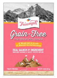 Triumph Grain Free Oven Baked Salmon & Sweet Potato Biscuit Dog Treats 12oz