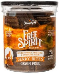 Triumph Grain Free Jerky Bites Turkey Pea & Berry Dog Treats 20oz