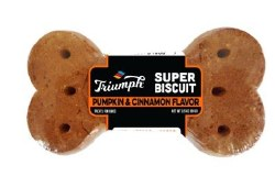 Triumph Super Biscuit Pumpkin Cinnamon Biscuit 3.5oz
