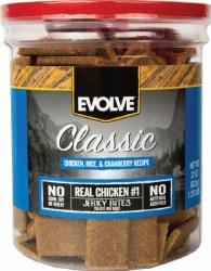 Evolve Classic Chicken Rice & Cranberry Recipe Dog Treats 22oz