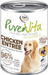 Pure Vita Real Chicken Recipe Grain Free Canned Dog Food 13oz