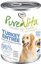 Pure Vita Real Turkey Recipe Grain Free Canned Dog Food 13oz