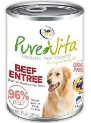 Pure Vita Real Beef Recipe Grain Free Canned Dog Food 13oz