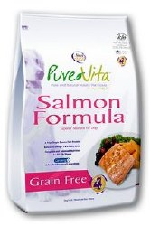 Pure Vita Grain Free Salmon Formula Dry Dog Food 25lb