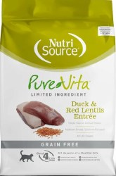 Pure Vita Grain Free Duck and Red Lentils Entree Dry Cat Food 6.6lb
