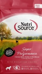 Nutrisource Super Performance Chicken and Rice Dry Dog Food With Xtra Energy 40lb