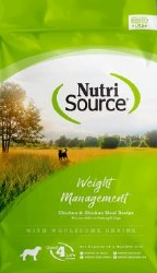 Nutrisource Weight Management Chicken and Rice Formula Dry Dog Food 30lb