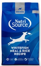 Nutrisource Choice Whitefish and Rice 30lb