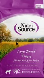 Nutrisource Large Breed Puppy Chicken and Rice Dry Dog Food 30lb