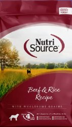 Nutrisource Beef and Rice Formula Dry Dog Food 15lb