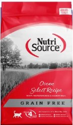 Nutrisource Grain Free Ocean Select Entree with Trout, Whitefish Meal, and Salmon Meal Protein Dry Cat Food 15lb