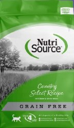 Nutrisource Grain Free Country Select Entree Chicken and Duck Meal Protein Dry Cat Food 15lb