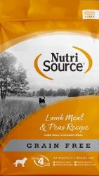 Nutrisource Grain Free Lamb Meal and Pea Formula with Salmon Meal Protein Dry Dog Food 15lb
