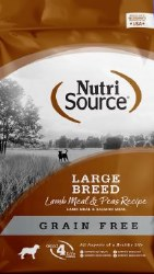 Nutrisource Grain Free Large Breed Lamb Meal Pea and Salmon Meal Protein Dry Dog Food 30lb