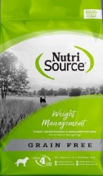 Nutrisource Grain Free Weight Management Turkey Whitefish and Menhaded Fish Meal Protein Dry Dog Food 15lb
