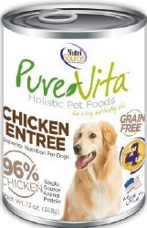 Pure Vita Real Chicken Recipe Grain Free Canned Dog Food Case of 12 13oz