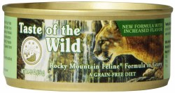 Taste of the Wild Rocky Mountain Feline Salmon and Venison in Gravy Grain Free Canned Cat Food 5.5oz