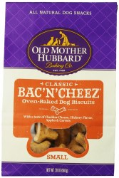 Old Mother Hubbard Classic Bac'N'Cheez Small Biscuits Baked Dog Treats 20oz
