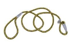 Reflective Braided Rope Slip Leash 6 Inch GoldenRod