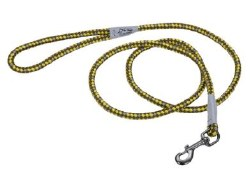 Reflective Braided Rope Snap Leash 6 Inch GoldenRod