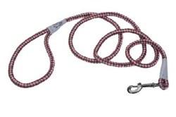 Reflective Braided Rope Snap Leash 6 Inch Rosebud