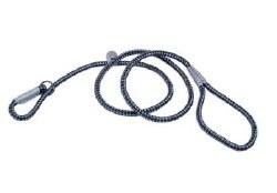 Reflective Braided Rope Slip Leash 6 Inch Sapphire