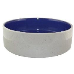 Stoneware Dog Dish 9.5 Inch
