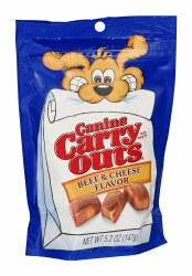 Canine Carry Outs Beef & Cheese Flavor Dog Treats 5.2oz