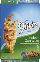 9lives Indoor Complete Dry Cat Food 12lb
