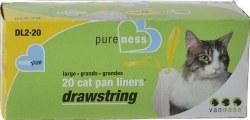 Drawstring Liners Large 20pk