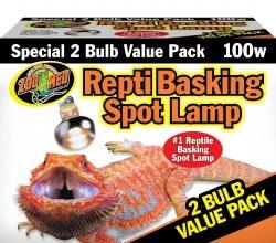 Basking Spot Lamp 100 Watt 2Pk