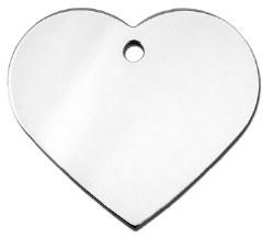 Dog Tag Heart Shape