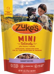 Zuke's Mini Naturals Rabbit Recipe Dog Treats 6oz Bag