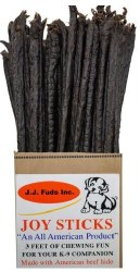 J J Fuds Joy Sticks Rawhide Beef One Size 36in