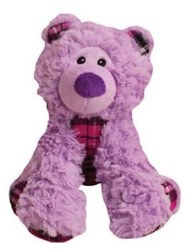 Snugz Bella The Purple Bear Plush Dog Toy