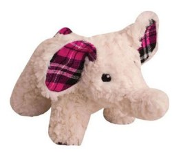 Snugz Ella The Pink Elephant Plush Dog Toy