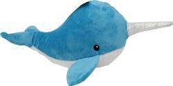 Snugz Nikki The Blue Narwhal Plush Dog Toy