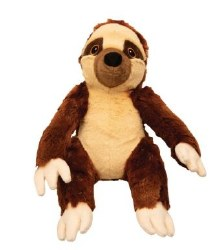 Snugz Sasha The Brown Sloth Plush Dog Toy