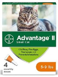 Bayer Advantage II Small Cat 5-9 lb 4 Month Supply