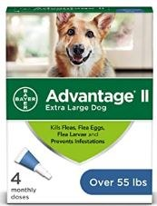 Bayer Advantage II For Extra large Dogs Over 55 lb 4 Month Supply