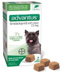 Bayer Advantus Flea And Tick Soft Chew 7 Count For Small Dogs 4-22 lb