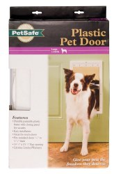 PetSafe Plastic Large Pet Door White Upto 100lbs