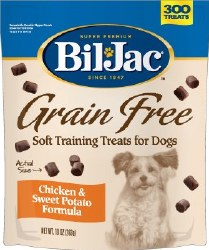 BilJac Grain Free Chicken & Sweet Potato Training Dog Treats 10oz