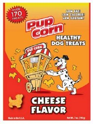 Sunshine Mills Pupcorn Cheese Flavor Dog Treats 7oz